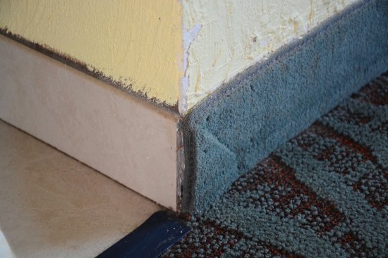 """Perry's Ocean Edge Resort: Carpet """"baseboard"""" coming of the wall"""