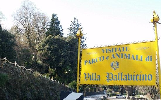 Parco della Villa Pallavicino : veduta ingresso parco dalla strada statale