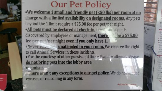 Red Roof Inn U0026 Suites Monterey: Here Is Pet Policy For This Location