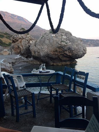 Kerames, Greece: Our table