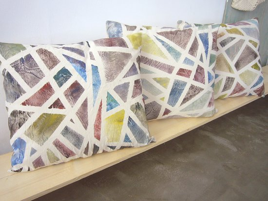 Gallery X Art Studio: Handpainted cushions 60x50cm.