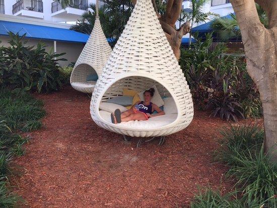 Aruba Marriott Resort & Stellaris Casino: Cozy seating outside