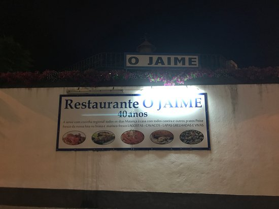 Restaurante Jaime: Sign outside of restaurant