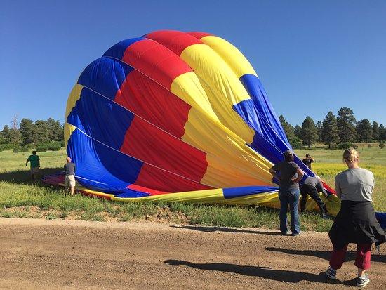 Rocky Mountain Balloon Adventures, LLC.: taking the balloon down