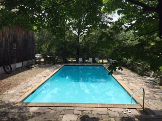 Henniker, NH: This pool was our backyard!