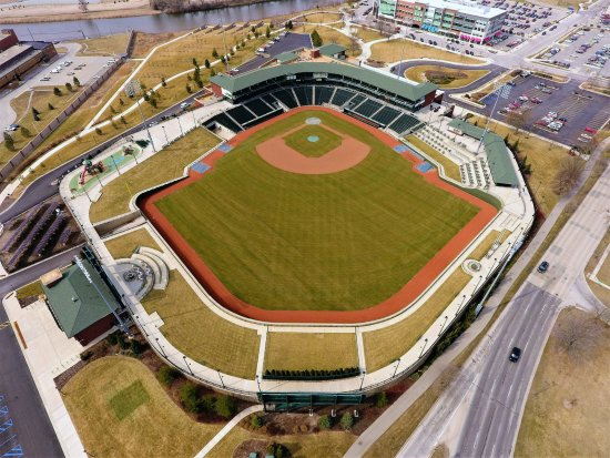 Midland, MI: Dow Diamond Aerial (Photo by Kirt Rivard)