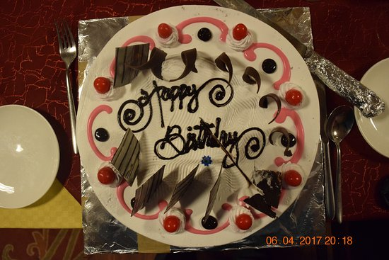 Hotel Tibet International: My birthday cake!