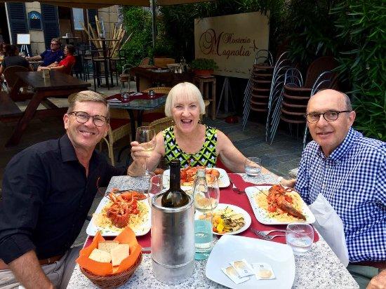 Mezzegra, Italien: A dinner at Hoseria Magnolia, Lago Di Como