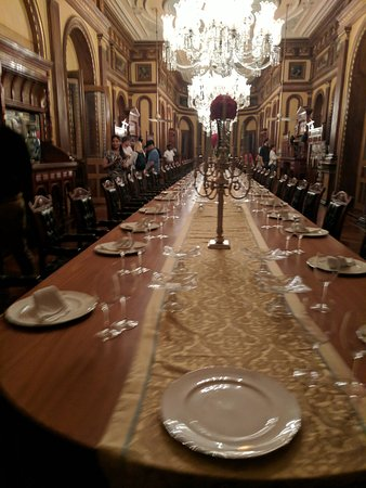 Falaknuma : Longest dining table in world (supposedly) - seats 101 people (don't ask why not 102)