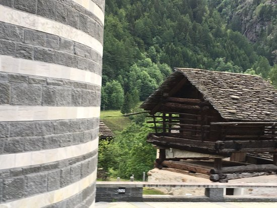 Mogno, Switzerland: old house that survived the snow avalanche