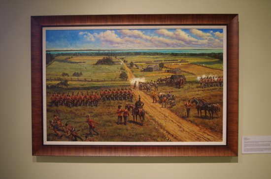 The Richard and Jane Manoogian Mackinac Art Museum: Painting depicting War of 1812