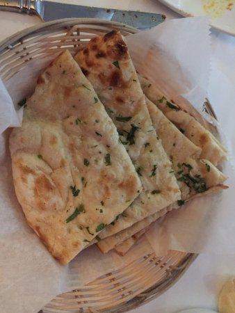 Cumin: garlic naan