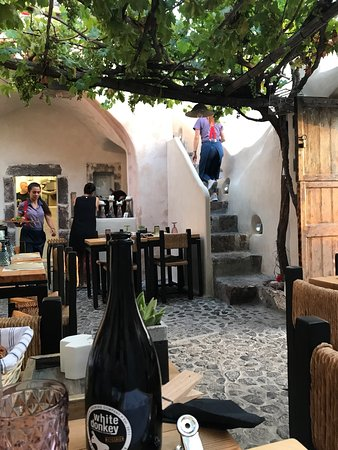 Finikia Restaurant: Love this restaurant,favourite restaurant in Greece let alone Santorini,very unique,interesting