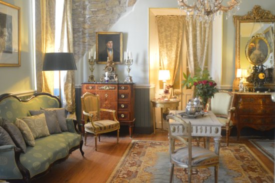Peyriac-Minervois, France: Le salon vert