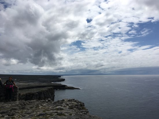 Faherty Day Tours: View from the top of Dun Aengus.