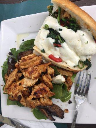 Denville, NJ: Broccoli Rabe, Chicken, red pepper sandwich with eggplant, chicken, fresh mozzarella, spinach sa