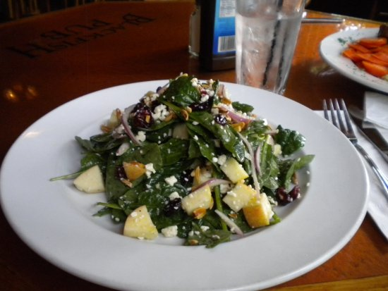 Gibsons, Canada: apple, cranberry & spinach salad