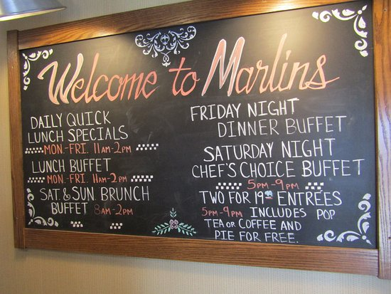 Marlins Family Restaurant: Welcome