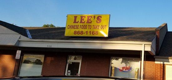 Fairfield, Οχάιο: Lee's Chinese Restaurant