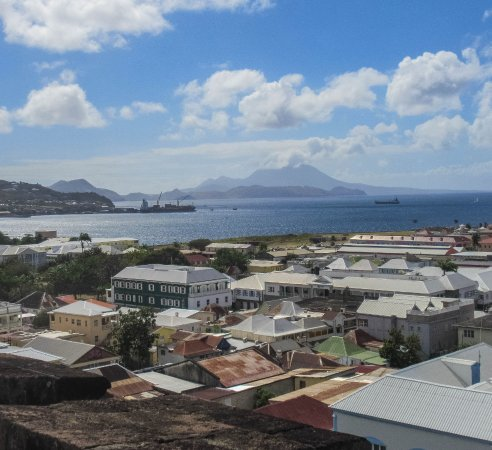 St. George's Anglican Church : View of Nevis from tower