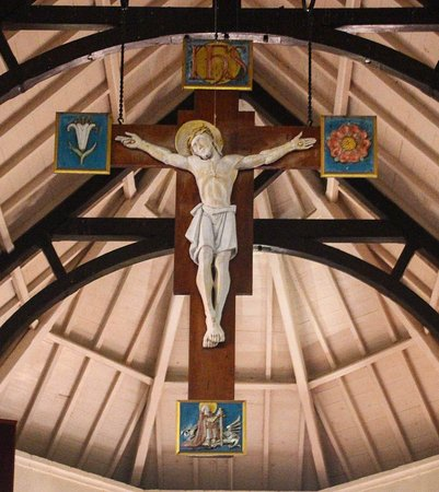 St. George's Anglican Church : Cross hanging from ceiling