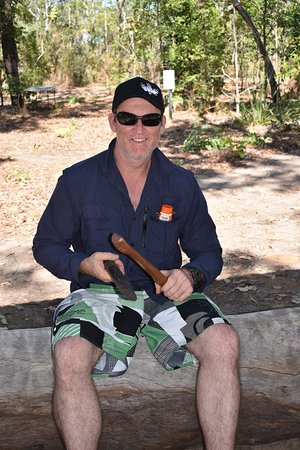 Pudakul Aboriginal Cultural Tours: Patrick enjoying his new skill
