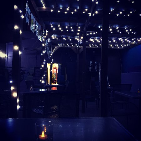 Outside twinkle lights - Picture of Zullos bistro and bar