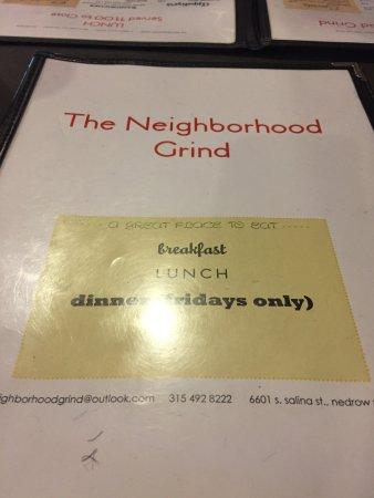 Nedrow, NY: menu