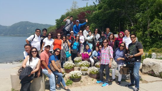 수원, 대한민국: Filipino group package tour at Nami Island