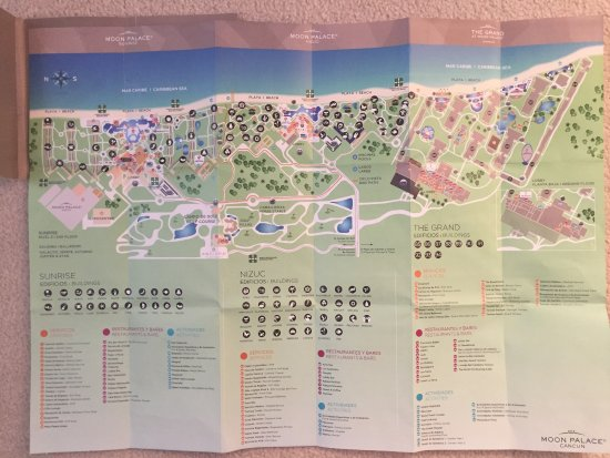 Map of Sunrise Nizuc and Grand  Picture of Moon Palace Cancun