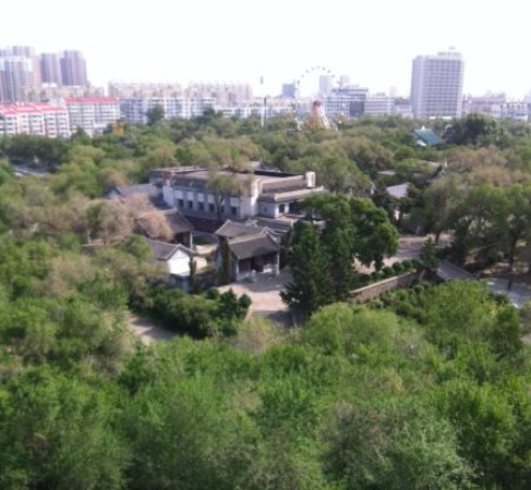 Qiqihar, China: 롱사공원 전망대에서 본 풍경
