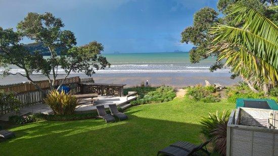 Beachfront Resort: view from upstairs deck