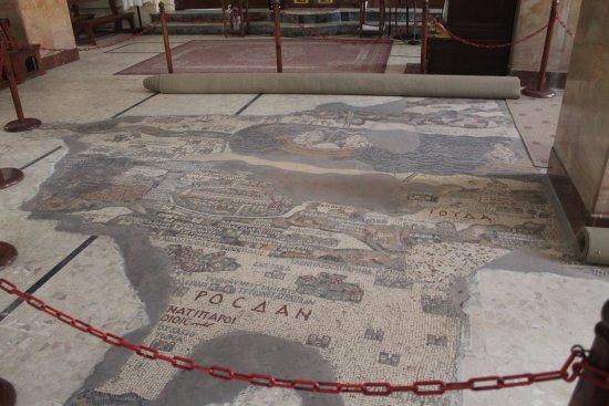 Carte de Madaba : Map on floor