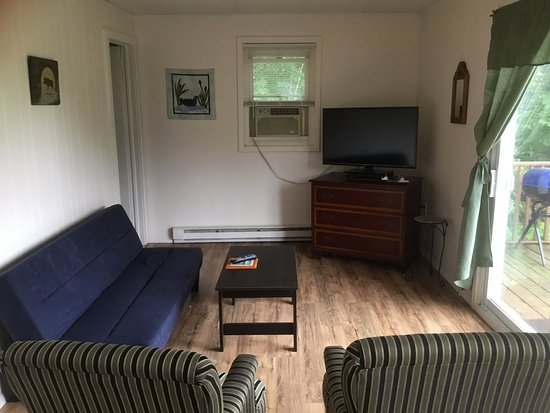 Riverview Motel: Living Space, cabin 6
