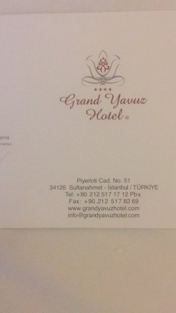 Grand Yavuz Hotel: photo0.jpg