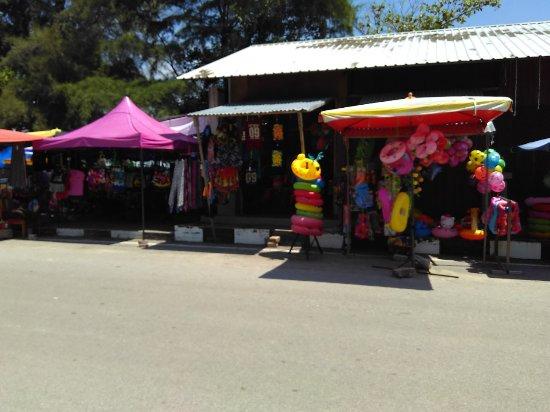 Beach shops at Teluk Kemang