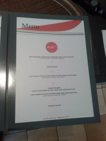 Margon, France: Menu à 45,90 €