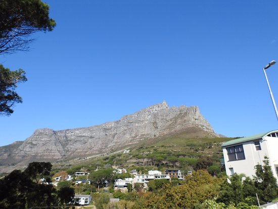 Cape Cadogan: View of table mountain from patio of suite