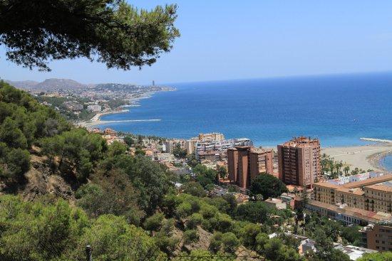 View from grounds of Parador de Malaga Gibralfaro