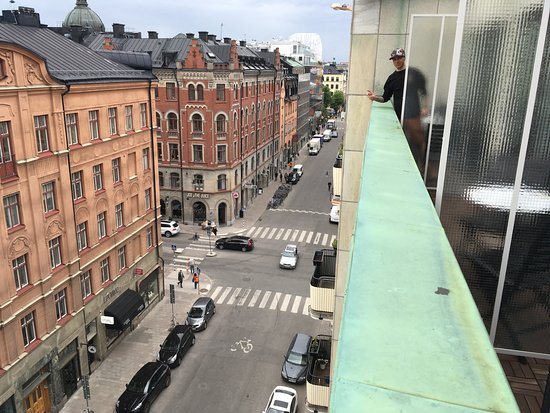 Mornington Hotel Stockholm City: Utsikt från våning 6.