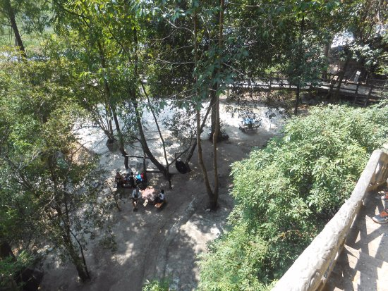 Khammouane, Laos: View of the ground floor from the mouth of the Buddha cave