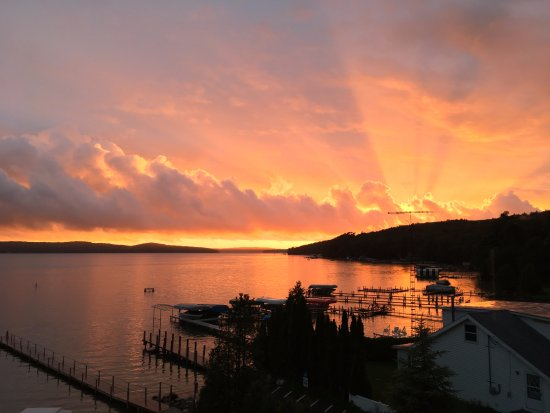 Spectacular sunset over Walloon Lake (courtesy of iPhone!)