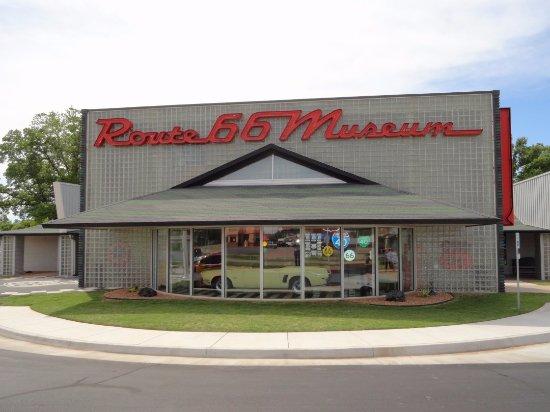 Oklahoma Route 66 Museum: Exterior of 66 Museum
