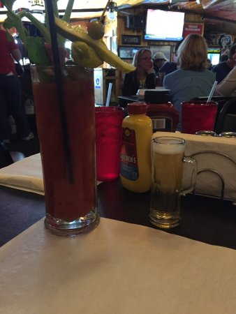 A Bloody Mary is always a good choice at the Sayner Pub.
