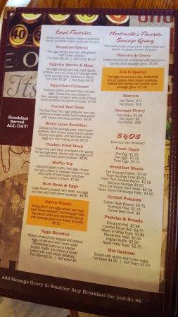 Stewartville, MN: BF menu