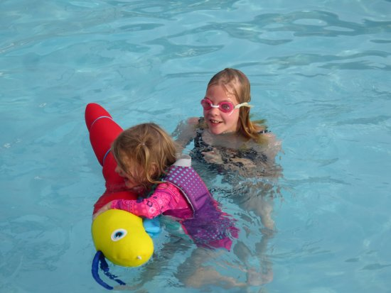 Afton, OK: Swimming with Sister