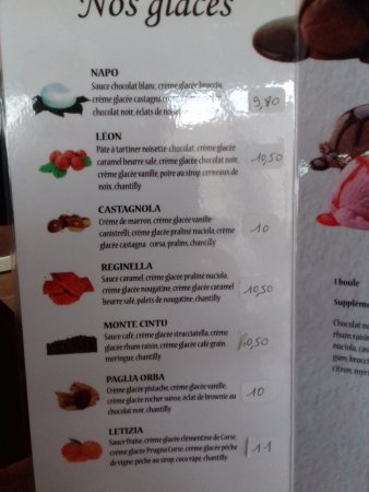 Calacuccia, فرنسا: carte des glaces (2)
