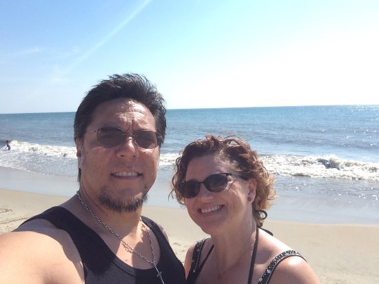 Rehoboth Beach Boardwalk: Beautiful, clean beach area.  We were also lucky enough to see several dolphin swimming along th