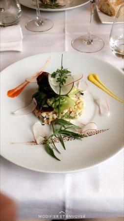 Buzancais, Γαλλία: tartare de haddock et sa brunoise de légumes