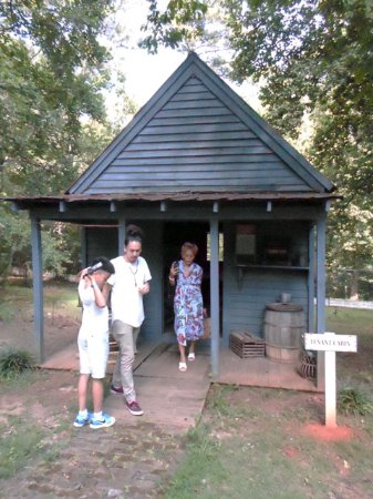 Stately Oaks Plantation: Maxwell, Avedore and Liza at one of the Tenant's cabin.